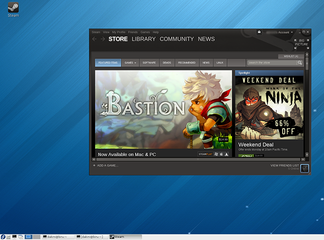 Steam running on Fedora 18 LXDE